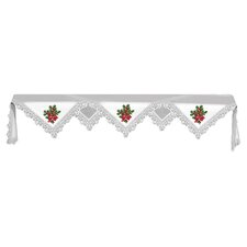Boughs of Holly Mantle Scarf in White