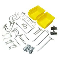 26 Piece DuraHook Kit in Yellow & Steel