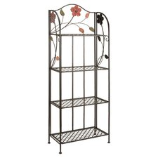 Flower Baker's Rack in Black