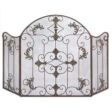 Embellished Fireplace Screen in Bronze