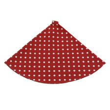 Ikat Dot Round Tree Skirt in Red