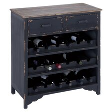 McCormick 18 Bottle Wine Cabinet in Distressed Black