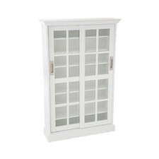 Woods Windowpane Multimedia Cabinet in White