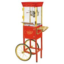 Vintage Circus Cart Popcorn Maker in Red