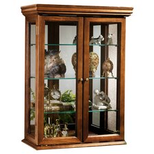 Benedicto Wall Curio Display Cabinet in Brown