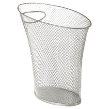 Skinny Mesh Waste Can in Nickel