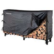 Log Rack & Cover in Black