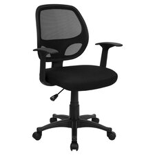 Arthur Mid Back Mesh Office Chair in Black