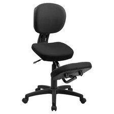 Astor Kneeling Mid Back Chair in Black
