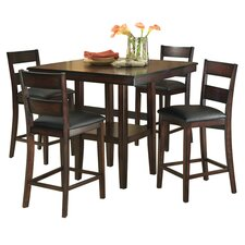 Pendelton 5 Piece Counter Height Dining Set in Mango