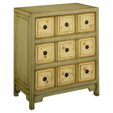 Lauren 3 Drawer Chest in Aged Silver Juniper