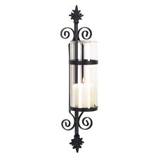 Noble Flair Candle Sconce in Black