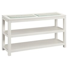 Pemba Weaved Console Table in White
