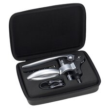 Deluxe 4 Piece Wine Opener Set in Silver