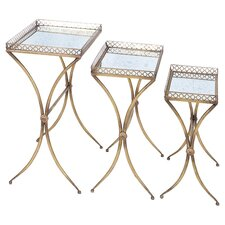 Shelburne 3 Piece Nesting Table Set in Gold