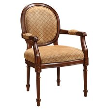 Arm Chair in Warm Brown & Beige