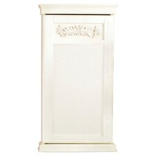Waverly Wall Mount Jewelry Armoire in Antique White