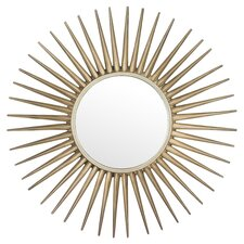 Burst Mirror in Brushed Silver