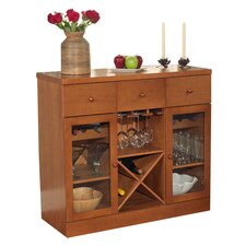 Sedona 6 Bottle Wine Cabinet in Oak
