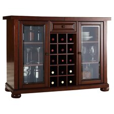 Alexandria Expandable Bar Cabinet In Mahogany
