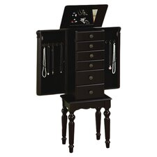 Jewelry Armoire in Antique Black