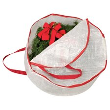 Circular Wreath Bag in Red & White