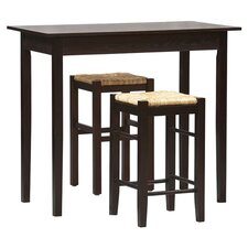 Tavern 3 Piece Counter Height Dining Set in Espresso