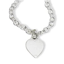 Heart Tag Necklace in Sterling Silver