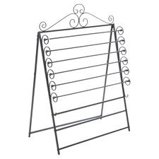 Verosa Easel & Wall Mount Craft Storage Rack in Black