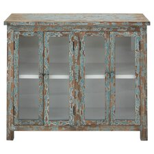 Wood & Glass Cabinet in Relic Blue