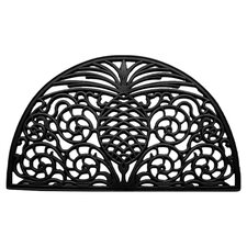 Pineapple Grandeur Doormat in Black
