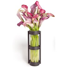 Glass Cylinder Vase in Black