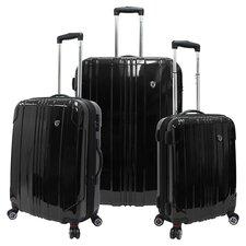 London 3 Piece Luggage Set in Black