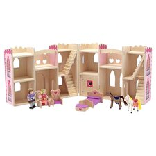Fold & Go Princess Castle in Natural