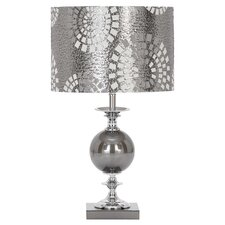 Designers Glass Table Lamp in Silver