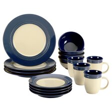 Paula Deen Southern Gathering 16 Piece Dinnerware Set in Blue
