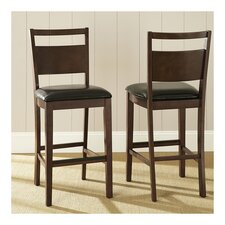 "Fairway Bicast Leather 30"" Bar Stool in Brown"