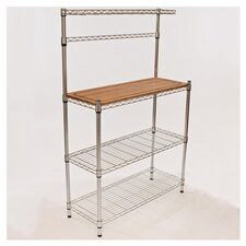 EcoStorage Bamboo Baker's Rack in Silver