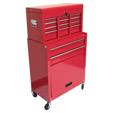 """24.3"""" Chest & Roller Cabinet in Red"""