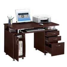 Super Storage Computer Desk in Espresso