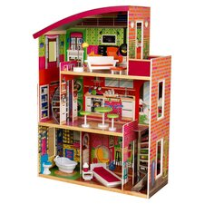 Designer Dollhouse in Brick Red