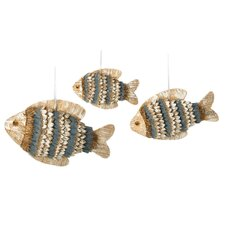 Natural School of Fish Hanging Figurine (Set of 3)