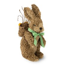 Natural Bunny Figurine with Knapsack