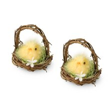Chick in Basket (Set of 2)