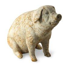 Rustic Pig Garden Statue