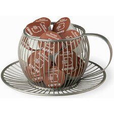 Wire Cup and Saucer K-Cup Holder