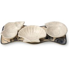 Shore Thing Nautical Tidbit and Tray Set
