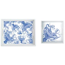 2 Piece Lucy 100% Pure Melamine Serving Trays