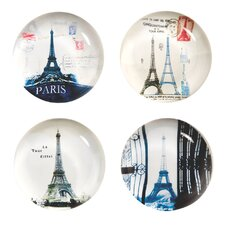 Paris Glass Magnets (Set of 4)
