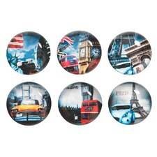 Travel Glass Magnets (Set of 4)